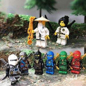 Image 5 - 8 قطعة النينجا وو لويد زين كاي كول جاي نيا بطل بنة فيلم عمل لعبة الطوب ninjaful الشكل مجموعة