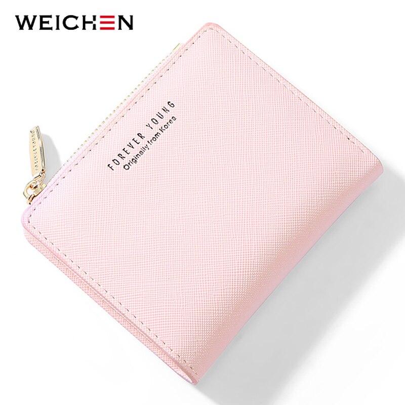 Weichen Female Wallet Purse Slim Mini Women Card-Holder Zipper Girl Brand