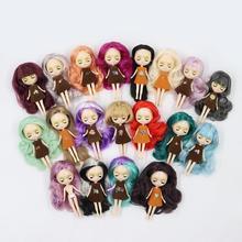 Мини Blyth ню кукла 10 см цвет волос с случайным платье с челкой или без челки нормальное тело DIY модные игрушки