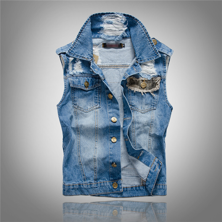 Popular Denim Jacket Vest Men-Buy Cheap Denim Jacket Vest Men lots ...