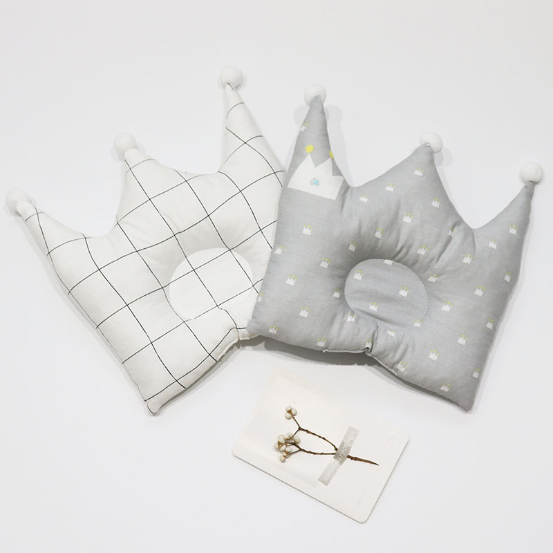 Anti Flat Head Baby Pillow For Newborns Nodic Baby Room Decoration Cute Crown Kids Pillow Cushion For Cot Baby Bedding Accessory