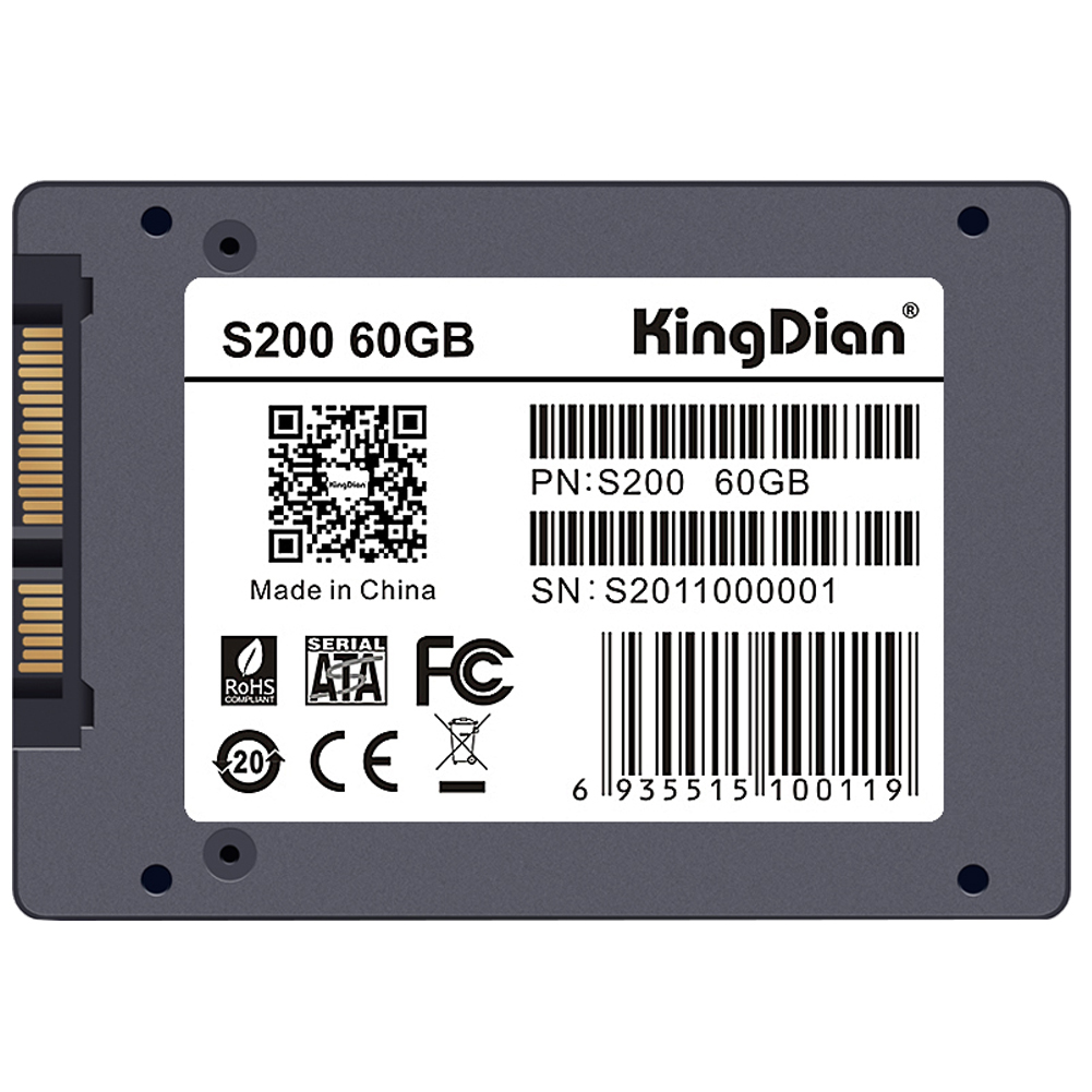 KingDian S200 MLC 2.5 7mm SATA III 6Gb/s Original Brand MLC SSD Internal Solid State Drive for Speed Upgrade Kit 60GB for 960gb ssd for s3520 series 2 5in sata 6gb s 3d1 mlc pn ssdsc2bb960g701