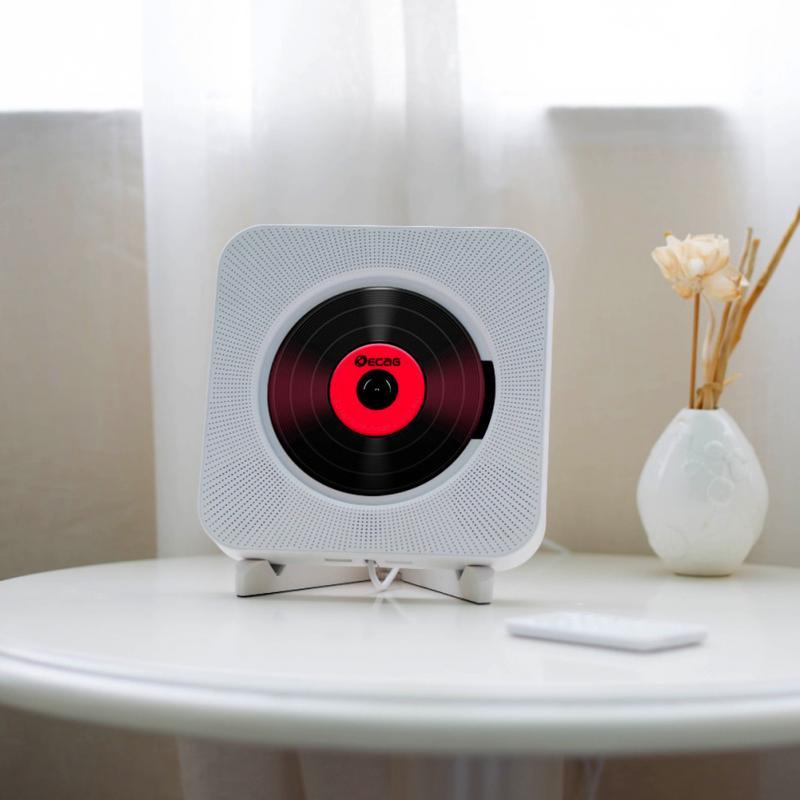 Lecteur CD mural Audio maison Boombox lecteur vidéo HD avec télécommande Radio FM haut-parleurs HiFi intégrés USB MP3 #5