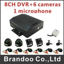 Digtal Video HDD 8CH Mobile DVR Car MDVR Kit With 6Pcs Camera Car Dvr Set