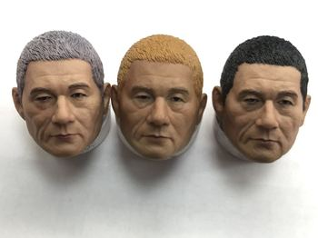1/6 Scale Yakuza Takeshi Kitano Head Sculpt fit for Hottoy Phicen Tbleague Body Doll Toy image