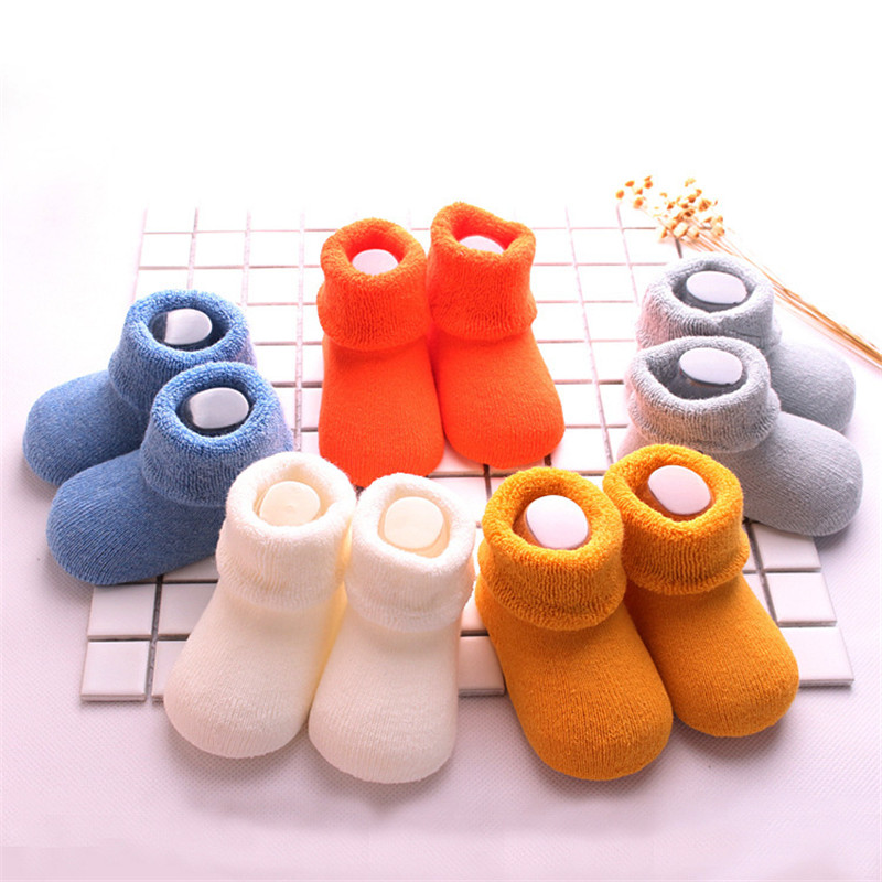 3 Pair Uinisex baby socks Spring Autumn terry socks warm toddler boy/girls floor socks infant clothing accessories 0-24m