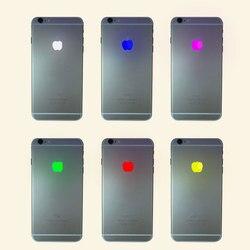 Phonefix 16 tipo colorido luz logotipo cabo flexível legal voltar iluminação led logotipo para iphone 6 6 p 6 s 6sp 7 7 p peça de substituição