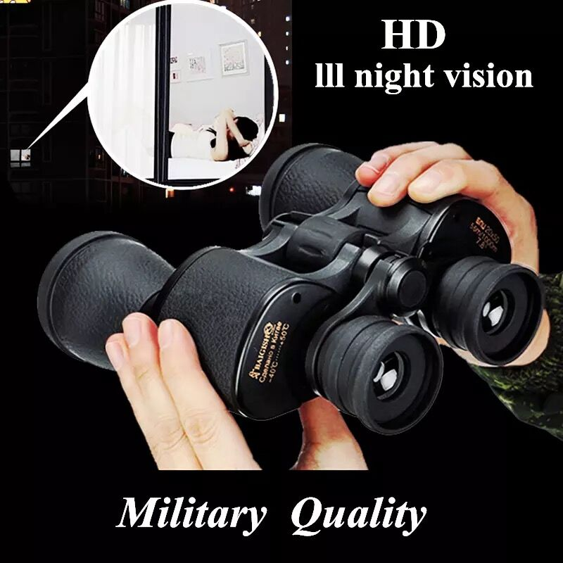 Image 4 - Baigish 20X50 Big Eyepiece Wide Angle Zoom Lll Night Vision Binoculars Outdoor Professional Military Travel Binocular-in Monocular/Binoculars from Sports & Entertainment