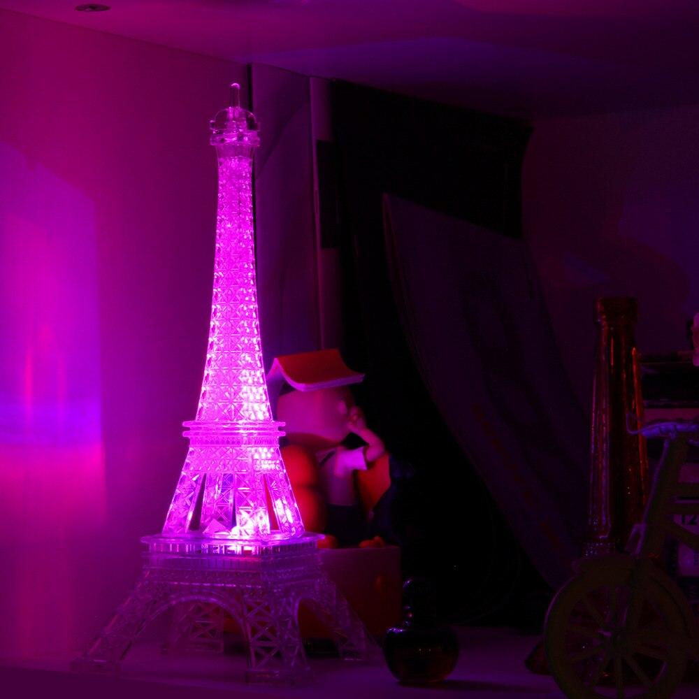 torre eiffel romntica de color cambiante noche led de luz dormitorio decoracin del hogar tienda worldwide