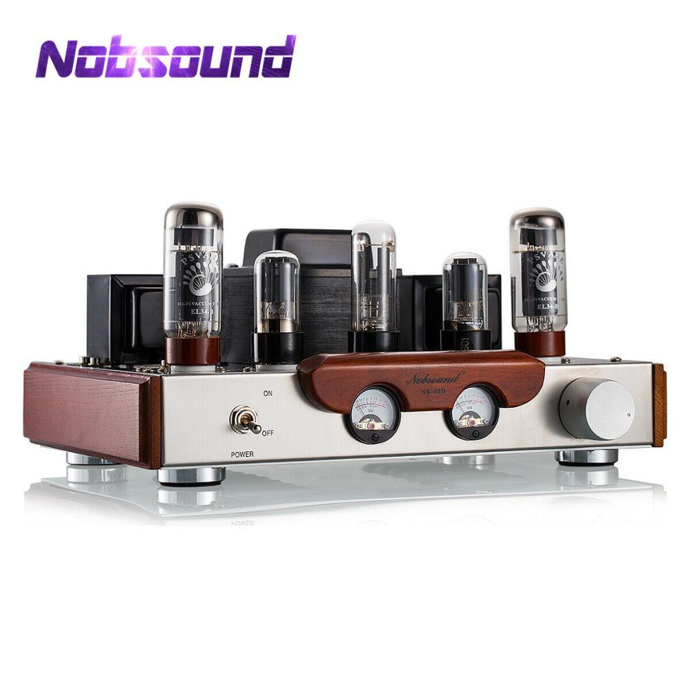 2019 Mais Recente Nobsound EL34 Válvula Tubo Amplificador Estéreo Hi-Fi Classe Single-ended UM Amplificador de Potência High-end Escovado metal Painel Amp