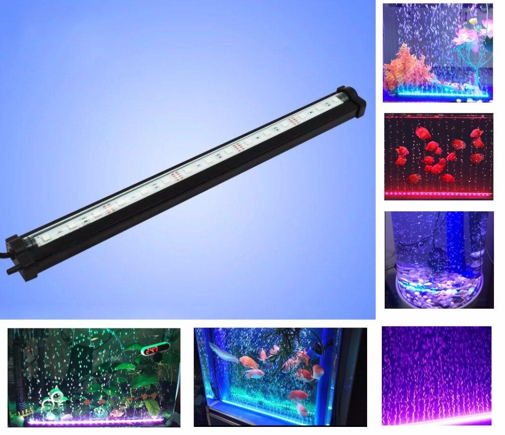 Yesbaby 16 Colors Waterproof LED Bubble Air Stone Light Fish Tank Aquarium Lamp