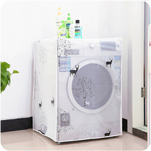 Transparent Washing Machine Cover Printing Sunscreen Covering Household Waterproof Roller Washing Machine Cover Home Gadgets wf c963r mfs ktr9nph 00 washing machine board tested