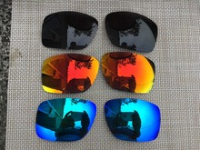 3 Pairs Black & Ice Blue & Fire Red Polarized Replacement Lenses Lens for Big Taco Sunglasses