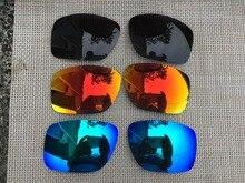 3 זוגות שחור & קרח כחול & אש אדום מקוטב החלפת עדשות עדשה עבור גדול טאקו משקפי שמש