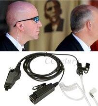 Xqf tubo de ar acústico fone ouvido ptt para kenwood cb rádio NX 200 NX 210 NX 300 NX 410 NX 411 walkie talkie TK 5400