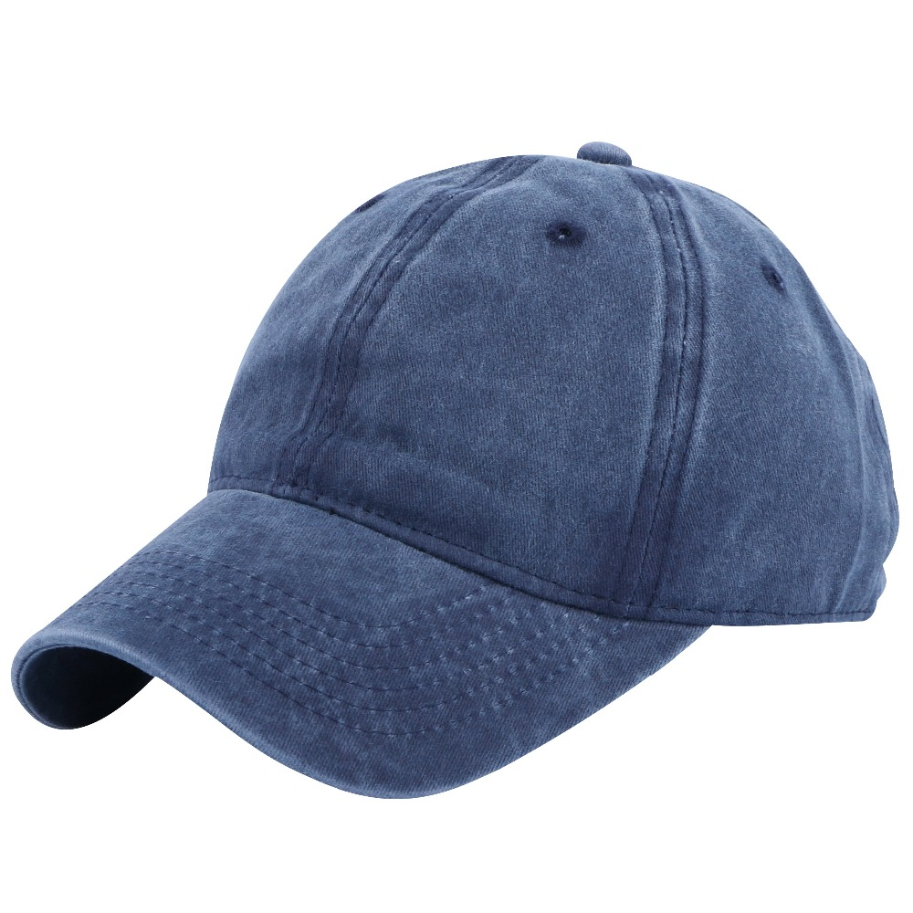 new fashion men women casual denim baseball cap cotton high quality solid colorful sports hats for girl boy 58 CM adult snapback