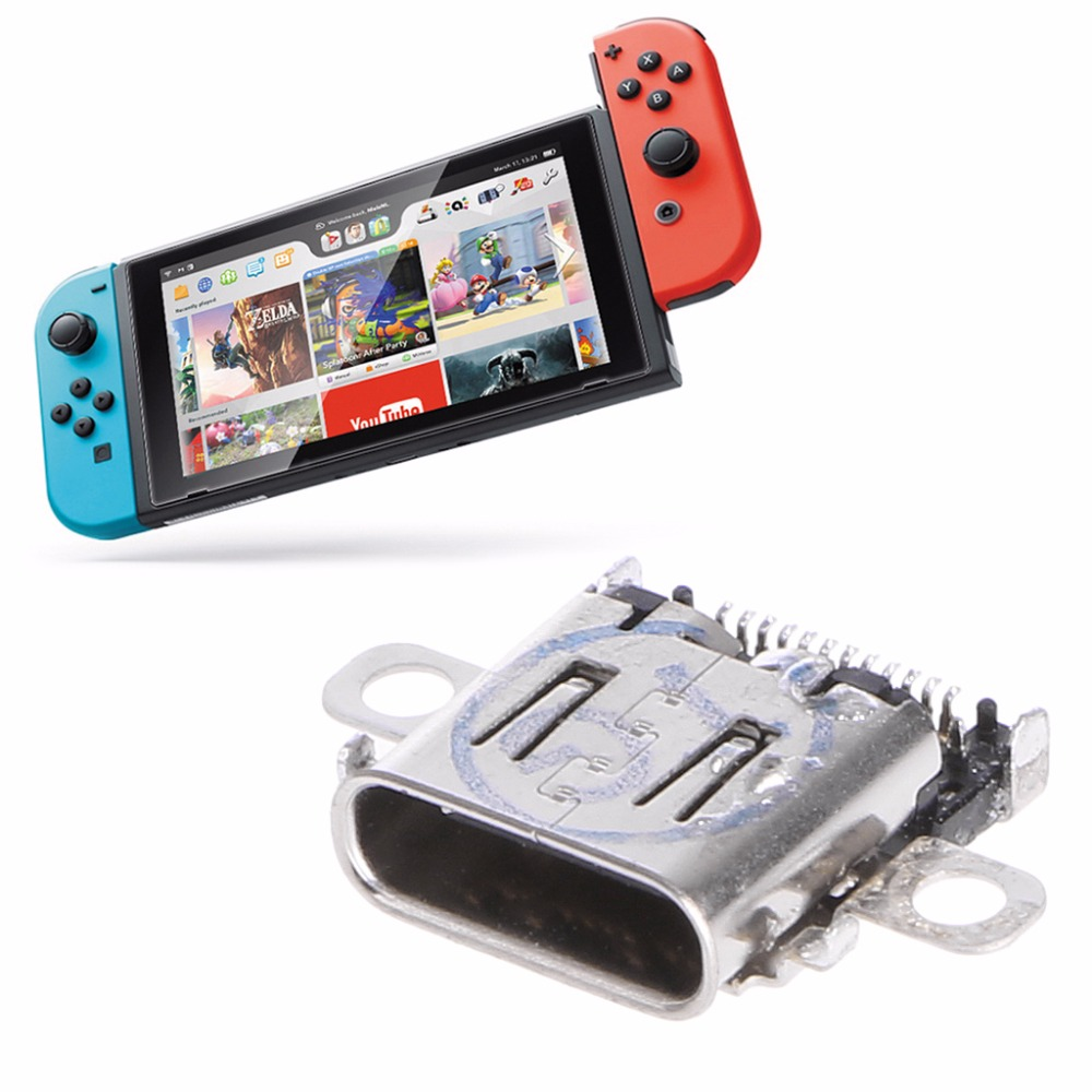 Brand Durable DC Charging Port Type C Charger Socket Replacement For Nintendo Switch Console Game Accessories Part Replacement