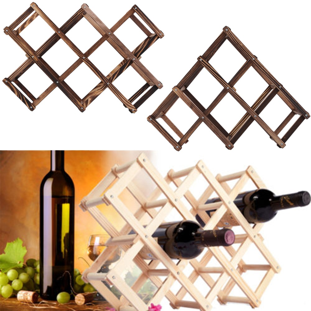 New Classical Wooden Red Wine Rack 3 6 10 Bottle Holder Mount Kitchen Bar Display Shelf