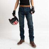 Classique moto Jeans résistance aux chutes Slim Denim cyclisme course pantalon Motocross tout-terrain Hockey pantalon avec protection