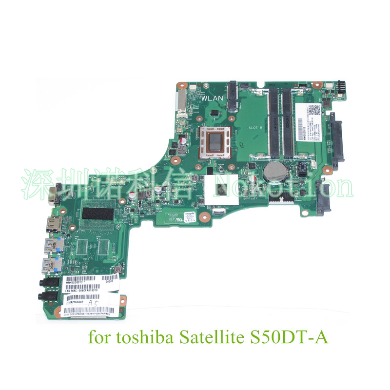 все цены на  60 days Warranty Laptop motherboard for toshiba satellite S50 S50DT-A A6-5345M CPU PN 1310A2556002 SPS V000318020  онлайн