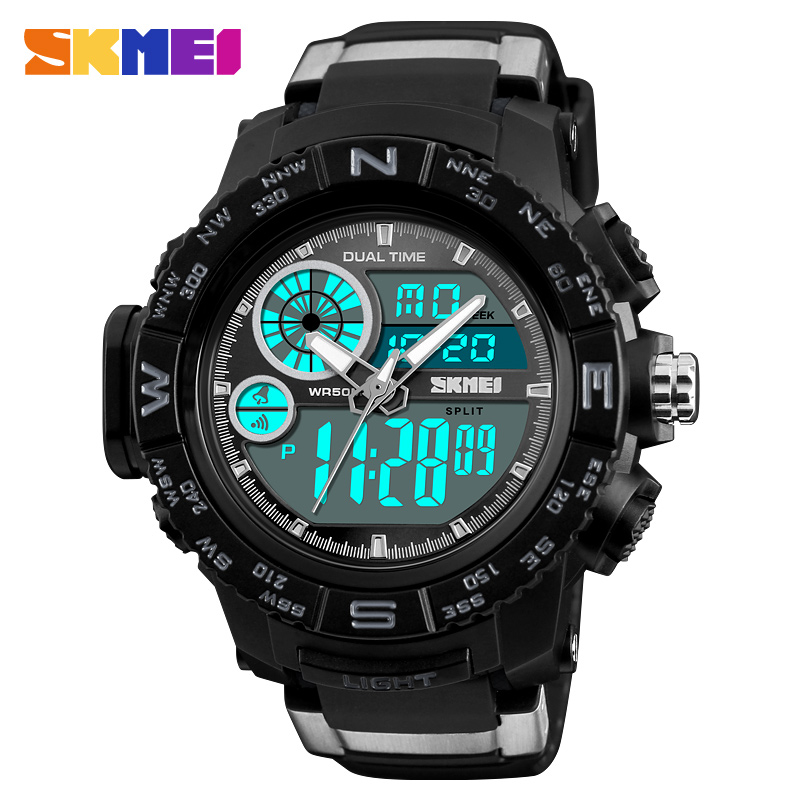 SKMEI Brand Men Sports Watches Luxury LED Digital Quartz Watch Waterproof Military Men Wrist Watch Man Clock Relogio Masculino