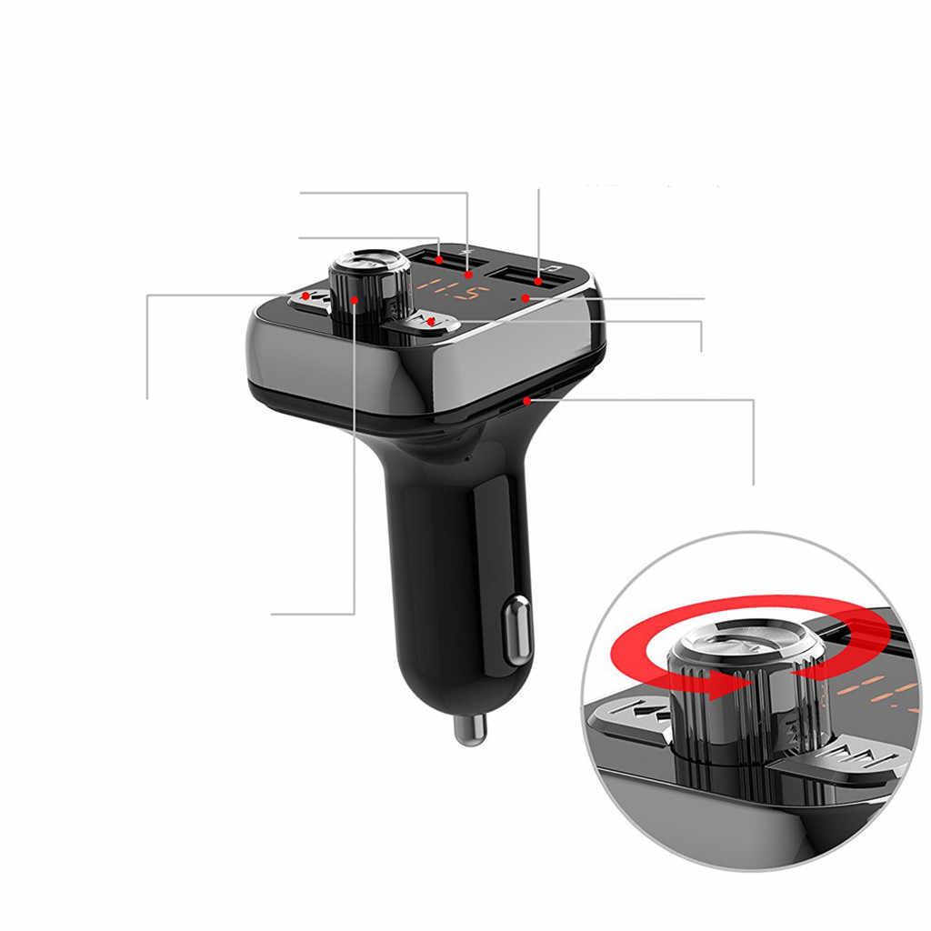 Ładowarka USB nadajnik FM LCD odtwarzacz MP3 zestaw samochodowy zestaw głośnomówiący Bluetooth 2.1A akcesoria samochodowe zestaw głośnomówiący # LR4