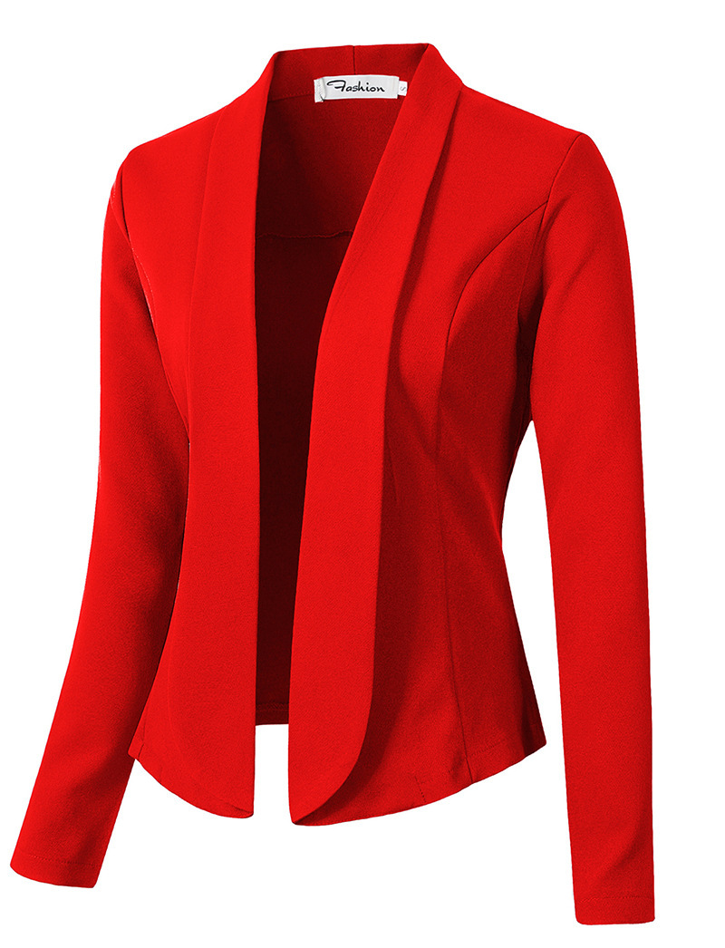 ZOGAA 9 Pure Color Women Work Office Lady Coat None Button Business Female Casual Slim Office Female Tops Jackets Hot Sale