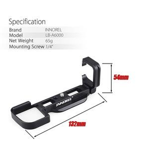 Image 5 - INNOREL LB A6000 L Tipi Alüminyum Alaşımlı Hızlı Bırakma Plakası için Tripod Dikey L Braketi El Kavrama Özel Kullanım Sony a6000