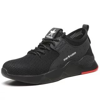 Dewbest Männer Sicherheit Schuhe Arbeit Stahl Kappe Kappen Stiefel Casual Skateboard Sneaker Knöchel Schutz Schuhe BüGeln Nicht