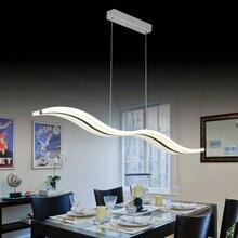 Nowoczesna lampa wisząca oprawa led fali dla salon jadalnia pokój 110 v/220 v free shipping