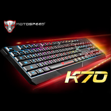 MOTOSPEED 104 USB Wired Pro Gaming Keyboard with 7 Colors LED Backlit Gaming Esport Keyboard for PC Notebook LOL Peripherals