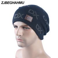 Men S Winter Knitted Beanies Skullies Five Pointed Star Knit Hats Add Velvet Outdoors Skis Caps