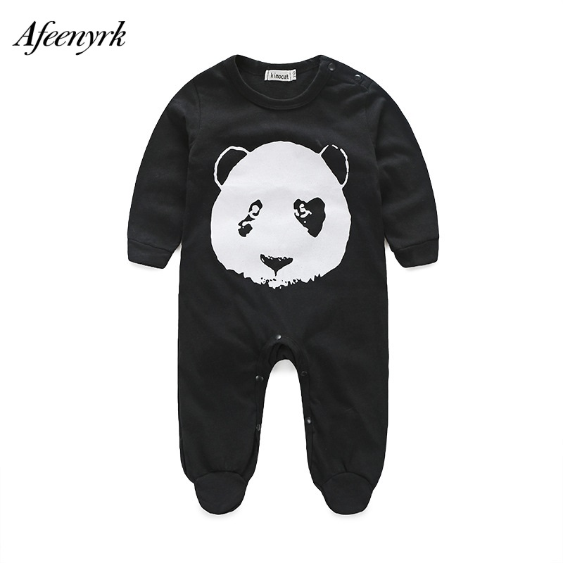 Baby Clothes 2018 Newborn Baby Boy And Girl Romper Children Infant Cartoon Panda Long Sleeved Cotton Jumpsuit Kids Climb Clothes spring baby romper infant boy bear romper newborn hooded animal clothes toddler cute panda romper kid girl jumpsuit baby costume
