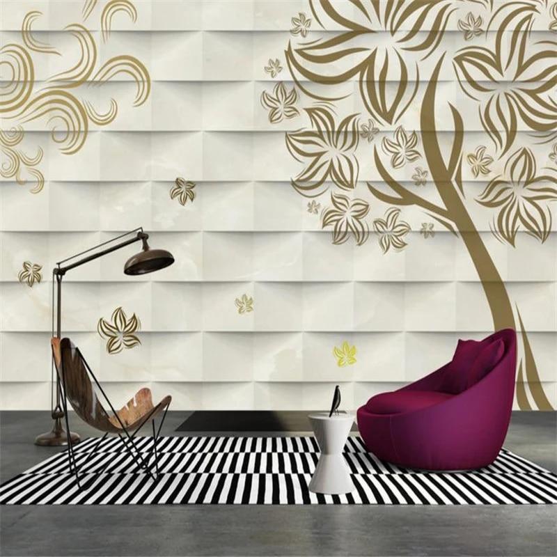 Photo Mural Dinding Kamar Tidur Anak Perempuan Dekorasi Dinding Modern Abstrak Pohon Bunga Wallpaper Nordic Tangan Dicat Rumah Wallpaper Wallpaper Aliexpress