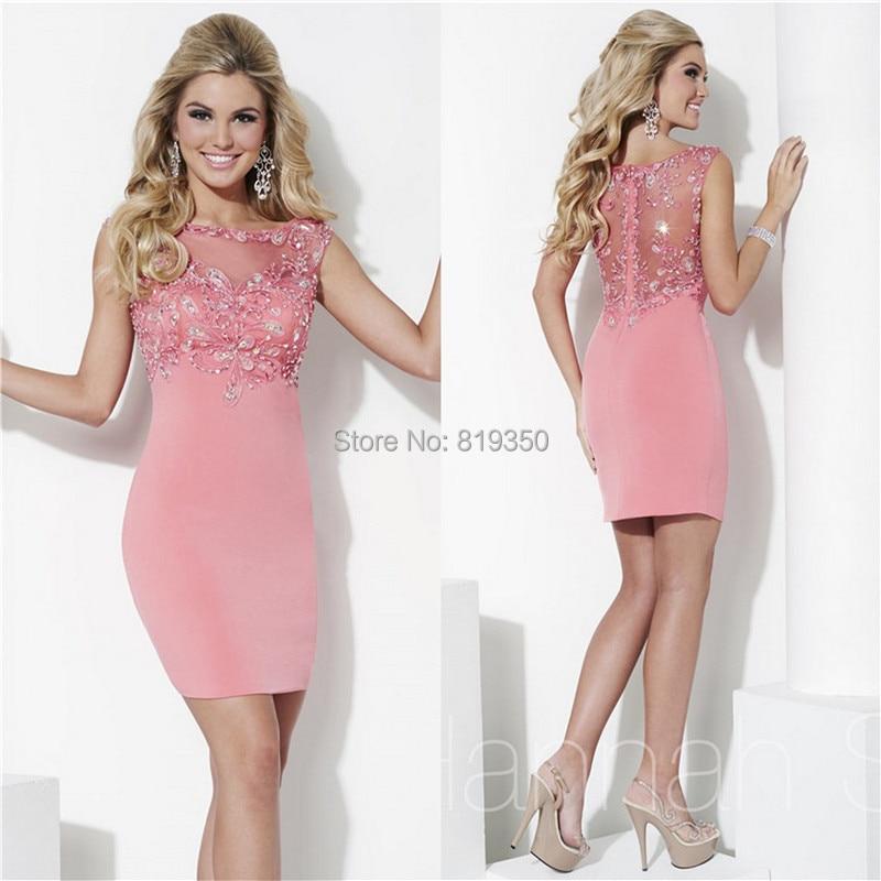 Short Sexy vestidos fiesta 2015 por encargo Scoop escote con ...