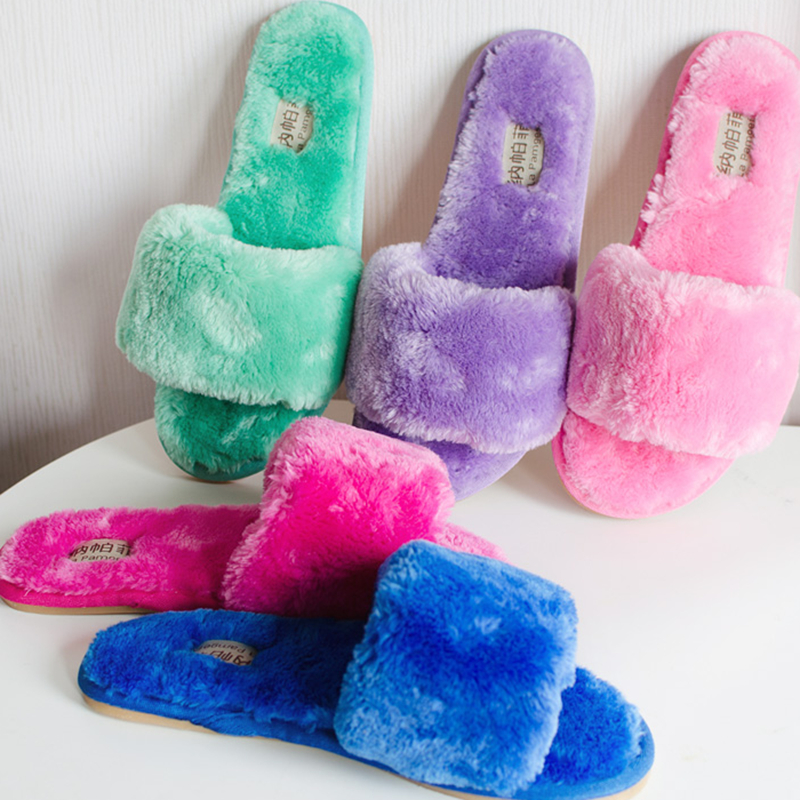 9 Colors Winter Cotton Pink Household Slippers Women Indoor Men home Shoes Plush Home Floor Pantuflas Pantofole Donna Chinelos fluffy straight ponytail side bang heat resistant synthetic anti alice hair cosplay wig