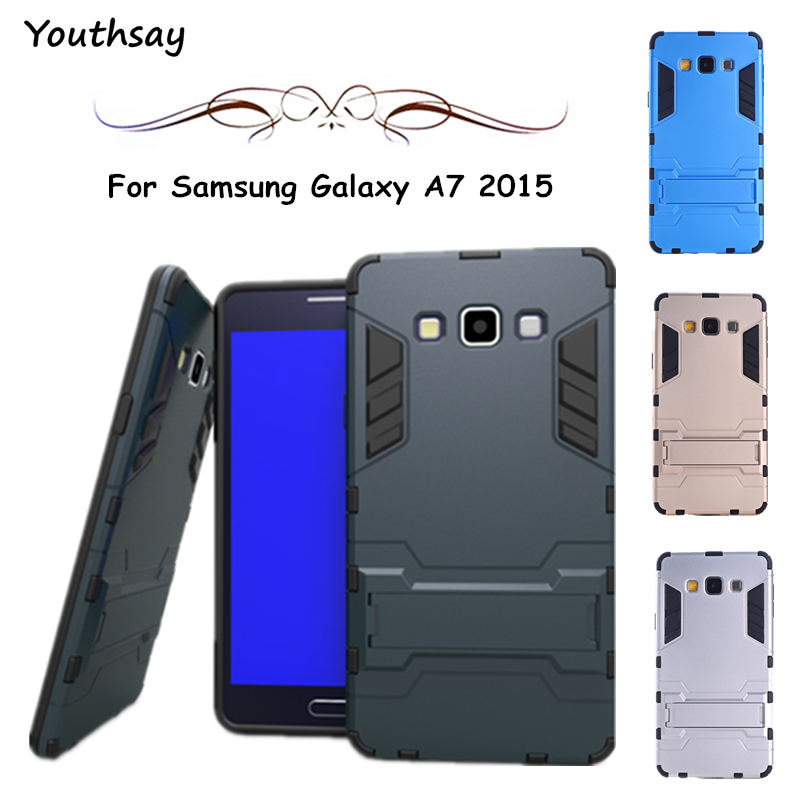 For Samsung Galaxy A7 <font><b>Case</b></font> Armor Luxury Plastic Phone <font><b>Case</b></font> For Samsung Galaxy A7 Cover For Samsung A7 2015 <font><b>Case</b></font> <font><b>A700</b></font> Youthsay image