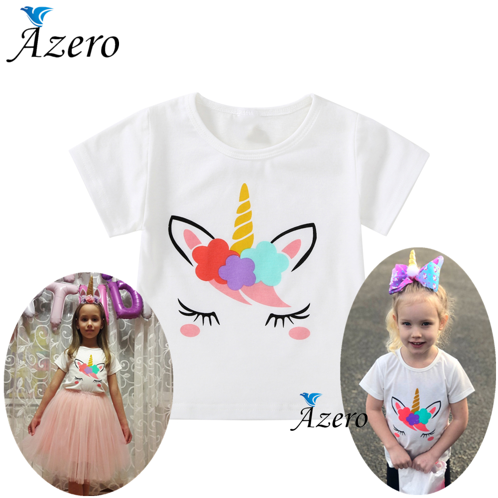 1-6Y Youngsters Lady T Shirt Summer time Child Boy Cotton Tops Toddler Tees Garments Kids Clothes White Unicorn T-shirts Brief Sleeve T-Shirts, Low cost T-Shirts, 1 6Y Youngsters Lady...