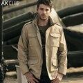 Mens clothing del club ak marca chaqueta m65 chaqueta de vuelo de la fuerza aérea de los hombres a prueba de agua hombres chaqueta de bombardero chaqueta de sarga de algodón 1204026