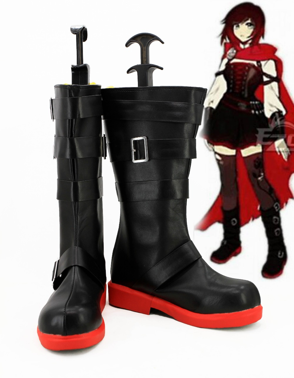 RWBY 4 Red Trailer Ruby Rose Cosplay Boots Shoes Anime Party Cosplay Boots Custom Made Women Shoes