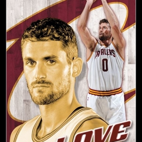 Cleveland Cavaliers – Kevin Love 16 Laminated & Framed Poster Print (22 x 34)