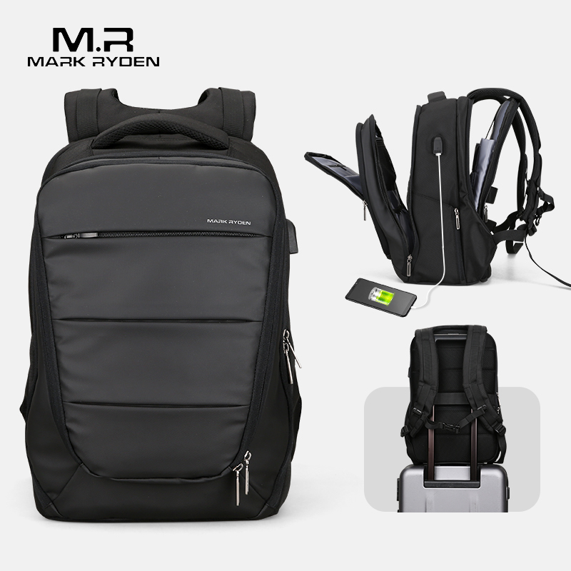Mark Ryden Mens Backpacks Mochila For 15 Inch Laptop Men USB Recharging Water Repellent Business BagsMark Ryden Mens Backpacks Mochila For 15 Inch Laptop Men USB Recharging Water Repellent Business Bags