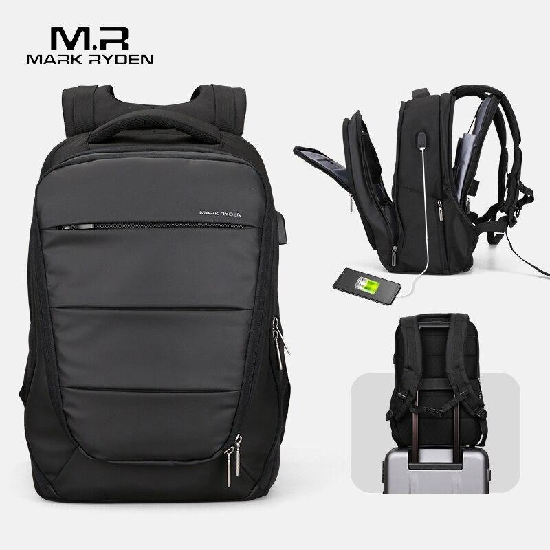 Mark Ryden mężczyźni plecaki Mochila dla 15 Cal na laptopa mężczyzna USB ładowanie wodoodporne torby biznesowe w Plecaki od Bagaże i torby na  Grupa 1