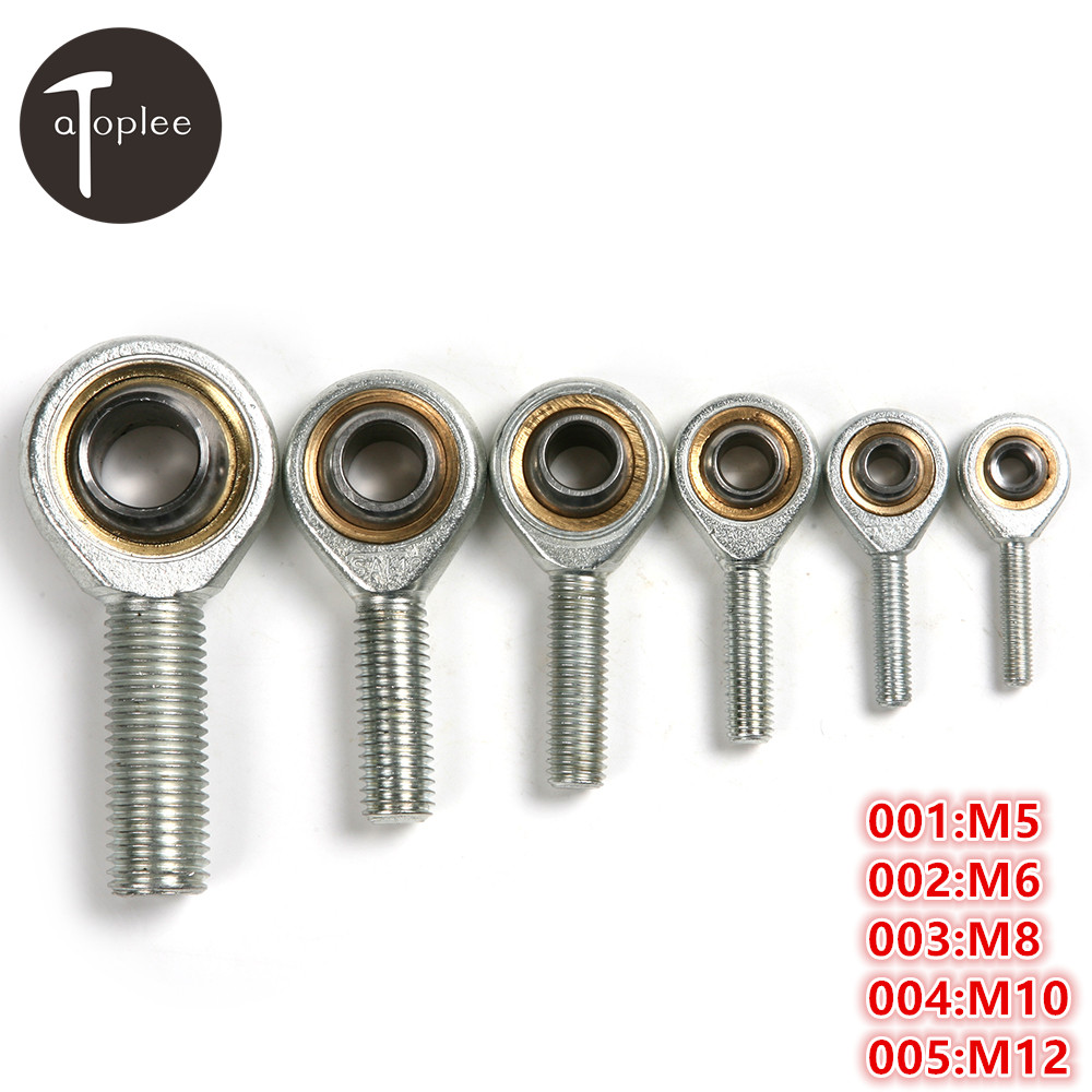 1pc M5 M6 M8 M10 M12 Male External Left Hand Screw Thread Fish Eye Rod End Joint Bearing Oscillating Bearing Ball Bearing цена
