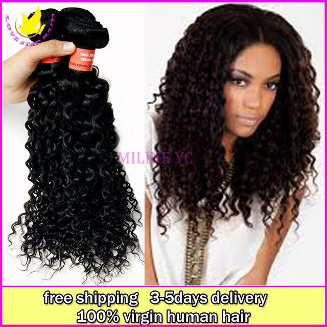 Hot Sale Cheap Virgin Human Peruvian Kinky Curly Hair 3pcs Lot Free