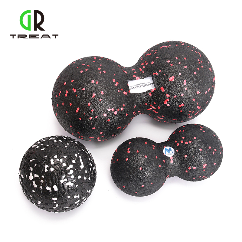 Drop Shipping EPP Massage Peanut Ball Back Therapy Crossfit Yoga Balls Trigger Point Sports Gym Release Excise Full Body Sports