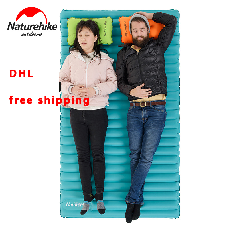 Conscientious Naturehike Inflatable Mattress For 2~3 Person 200x120/140x9.5cm Big Size Portable Air Pad Nh17t120-u