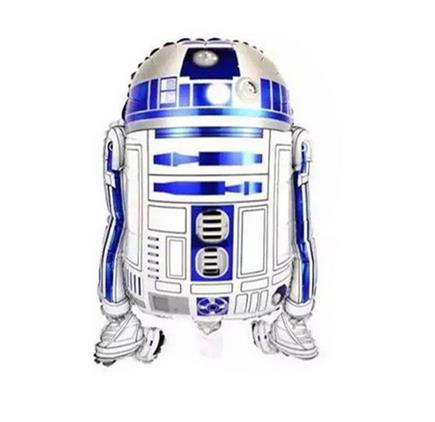 2pcs/lot Star Wars The Forca Awaken Globos R2-D2 Foil Balloons Birthday Party Decorations Helium Balloons Kids Toys