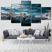 Landscape Painting 5 Pieces Home HD Print Artwork The Wall Art Paintings Canvas Living Room