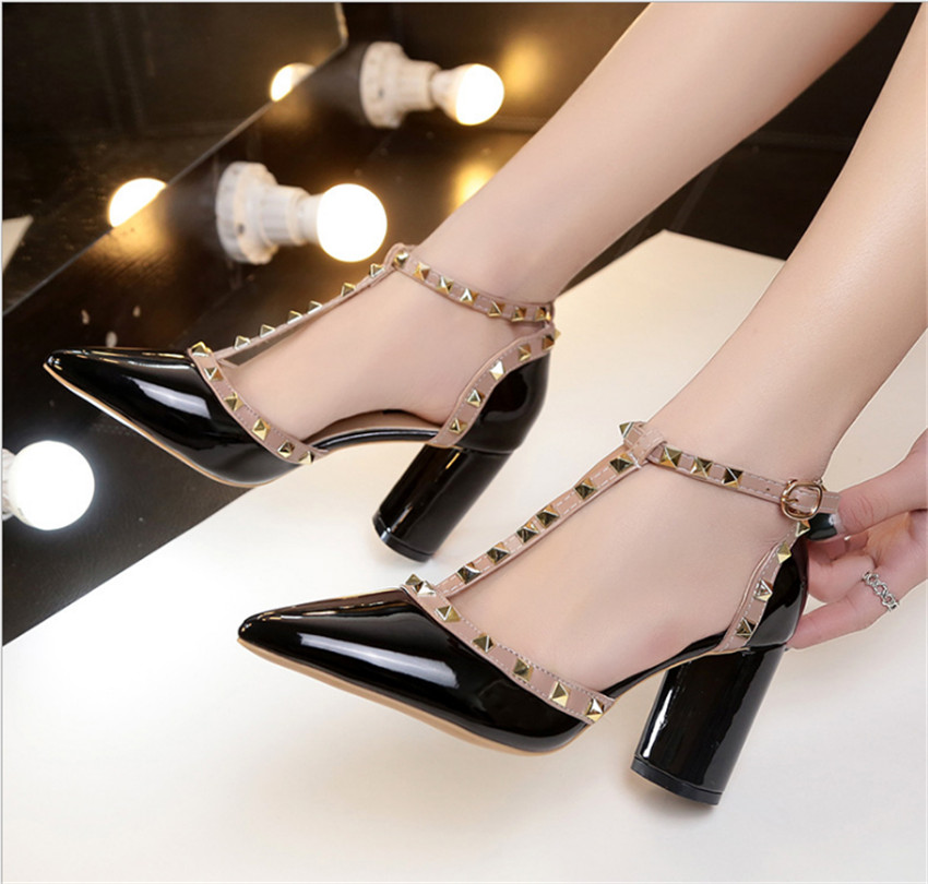 ZOUDKY 2018 new fashion frosted single wedding metal hollowed high heeled shoes